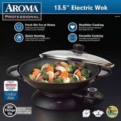 Aroma AEW-306 5-Quart Electric Wok
