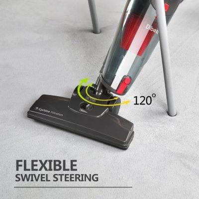 Dibea 600W Lightweight Corded Stick Vacuum Cleaner