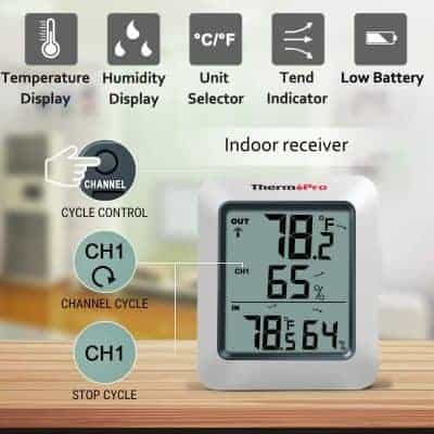 ThermoPro TP-60 Indoor Outdoor Thermometer Humidity Monitor