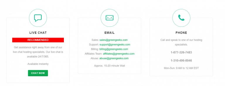 GreenGeeks - Support