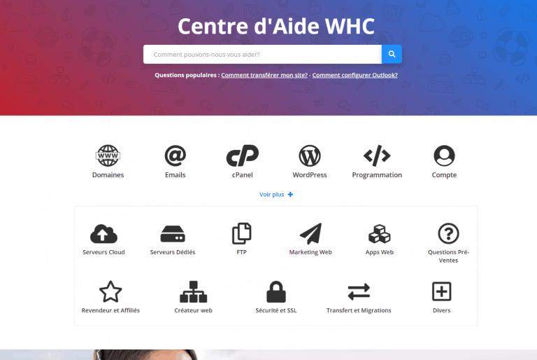 WHC - Aide en ligne