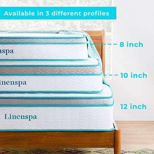 LinenSpa Memory Foam & Innerspring Hybrid Mattress