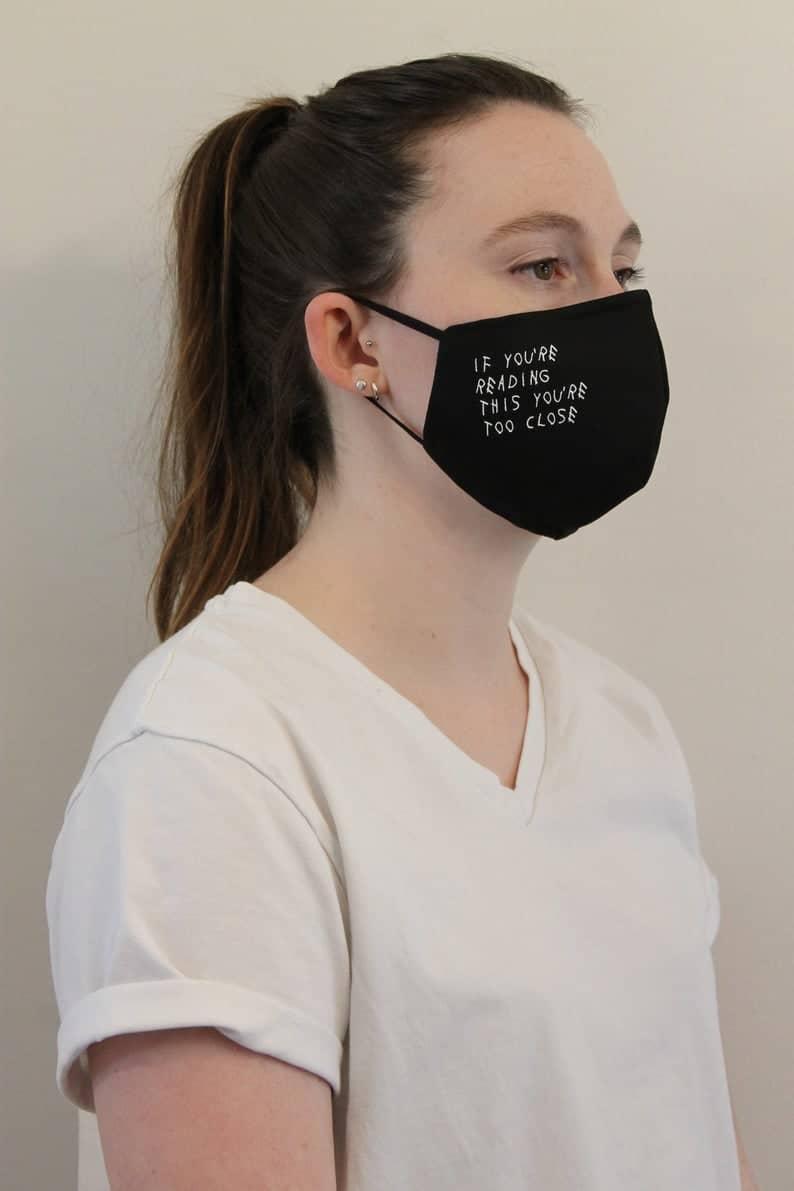 Masques imprimés réutilisables Si vous lisez ce que vous image 1