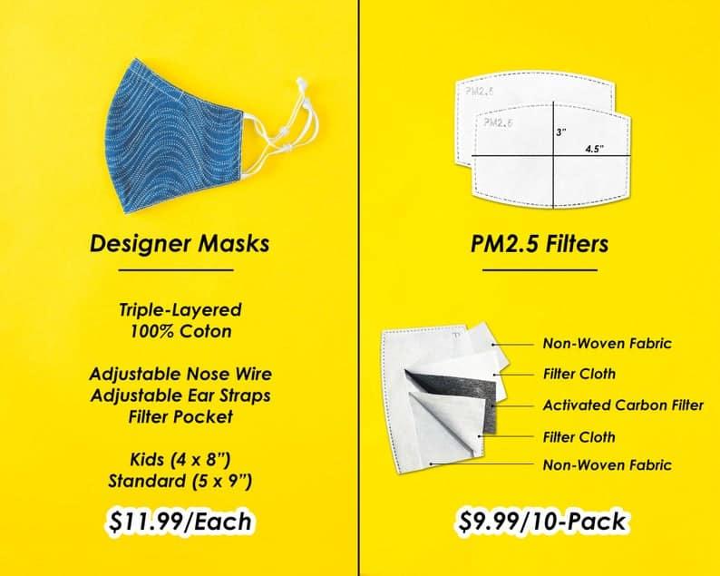 Fun Designs Masque pour le visage // Soft Hommes Femmes image 2