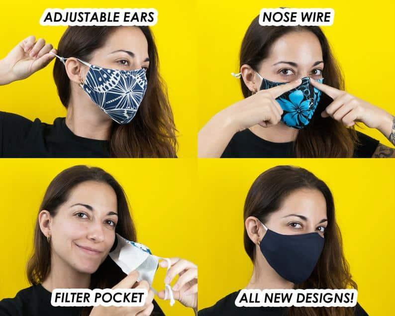 Fun Designs Masque pour le visage // Soft Hommes Femmes image 1